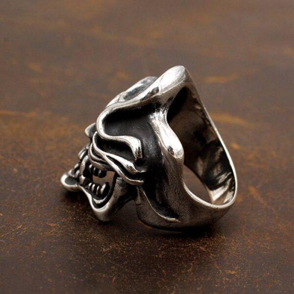 Sterling Silver Handmade Skull Biker Ring