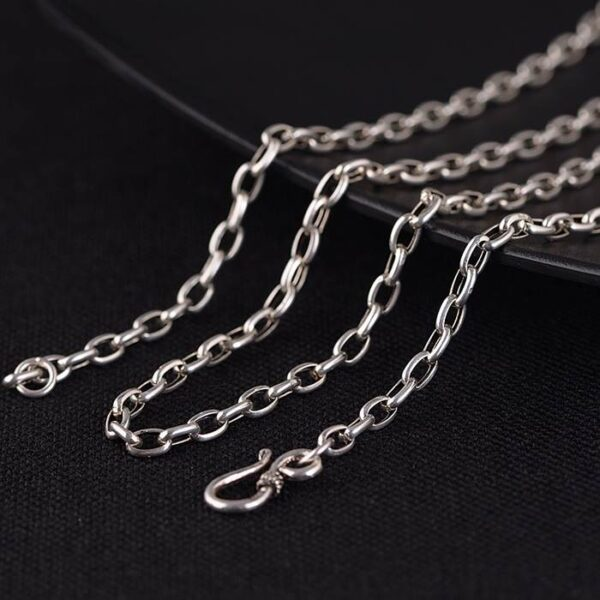 Sterling Silver Oval Link Chain Necklace