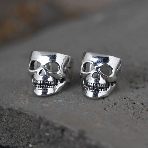 Sterling Silver Skull Ear Cuffs