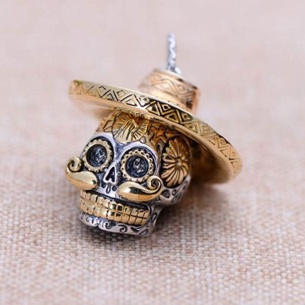 Sterling Silver Sugar Skull Pendant Necklace