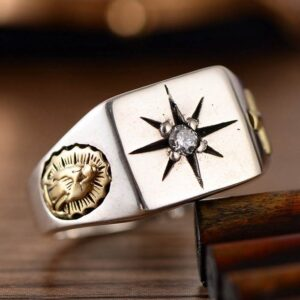 Virgin Mary Cross Star Ring