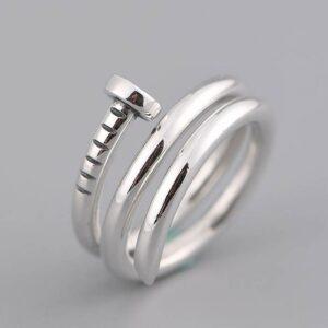 Women's Silver Nail Wrap Ring