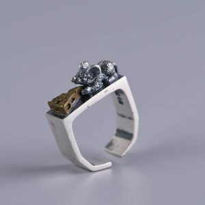 Women's Sterling Silver Mouse Ring