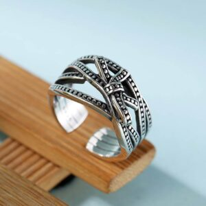Women's Sterling Silver Multi-Row Knot Ring
