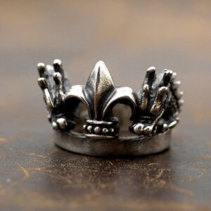 Double Dragon Crown Ring