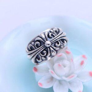 Fleur De Lis Cross Ring