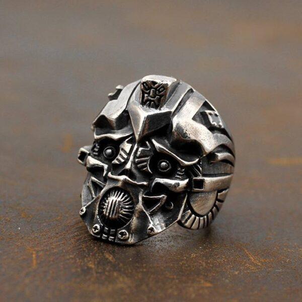 Handmade Sterling Silver Transformers Bumblebee Ring