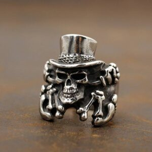 Uncle Sam Skull Ring