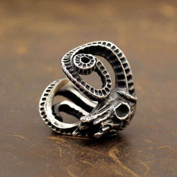 Ram Skull Ring