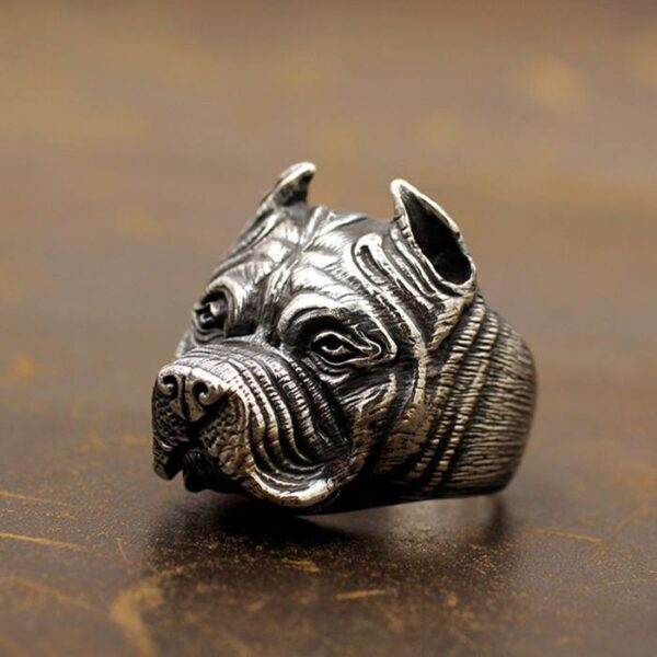 Sterling Silver Pug Ring