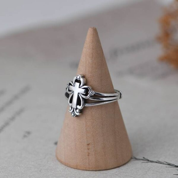 Women's Sterling Silver Cross Ring