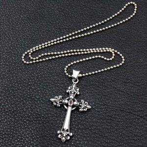 Celtic Cross Skull Pendant Necklace