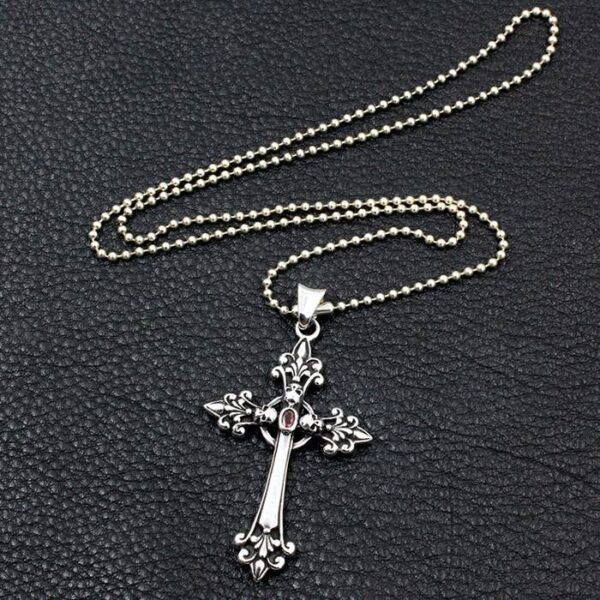 Celtic Cross Skull Pendant Necklace