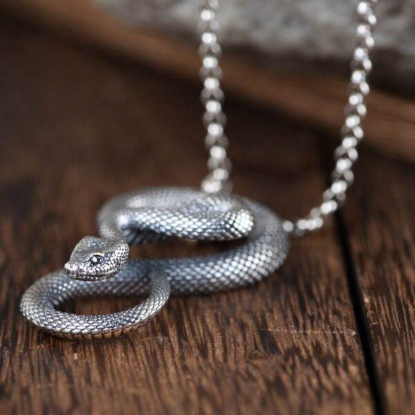 Mamba Snake Pendant Necklace
