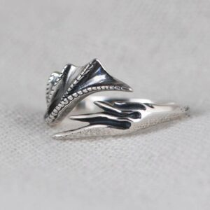 Silver Dragon Wing Ring