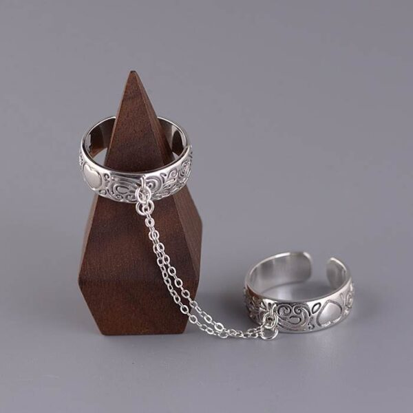 Connected Chain Ring Set