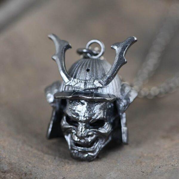 Japanese Samurai Pendant Necklace