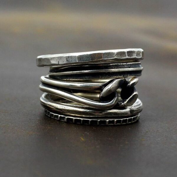 Knot Stackable Rings Set
