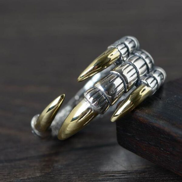 Silver Eagle Claw Ring