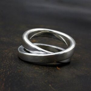Silver Infinity Full Twist Ring