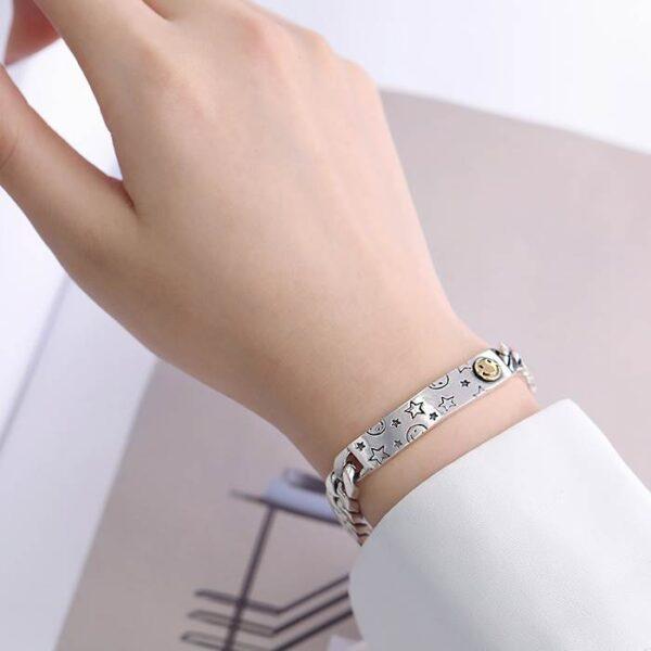 Star Smile Id Chain Bracelet