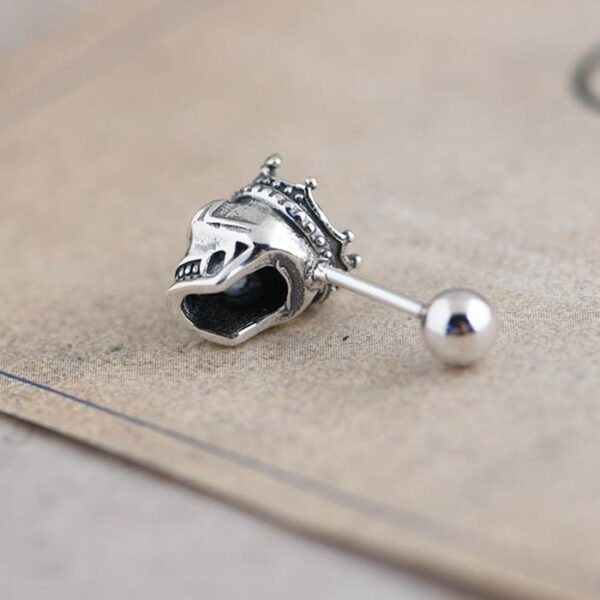 Crown Skull Stud Earrings