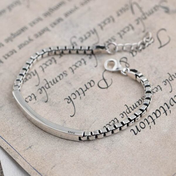 Id Box Chain Bracelet
