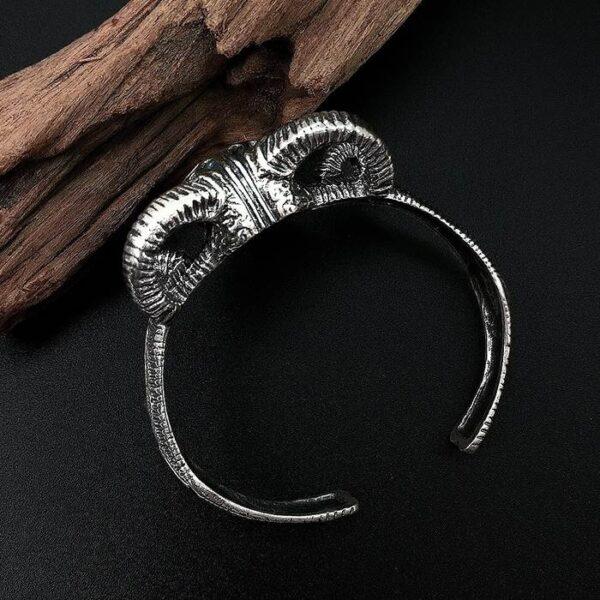 Goat Skull Cuff Bracelet