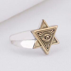 Star of David Eye Of Horus Ring