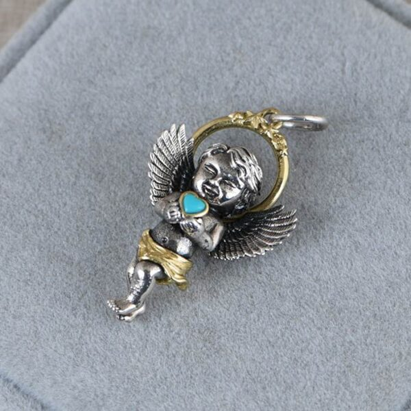 Baby Angel Turquoise Cupid Pendant