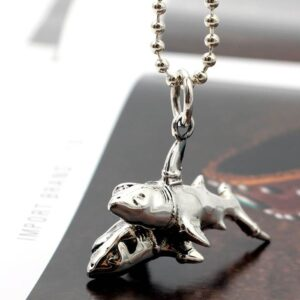 Silver Fish Pendant Necklace