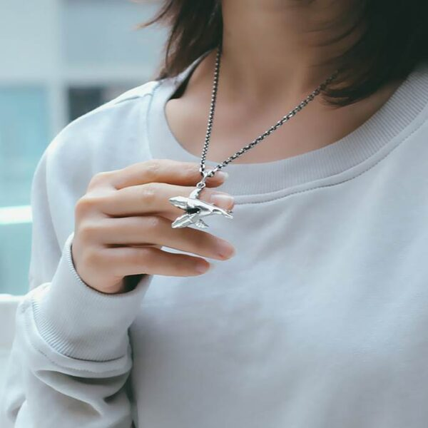 Silver Fish Pendant Necklace
