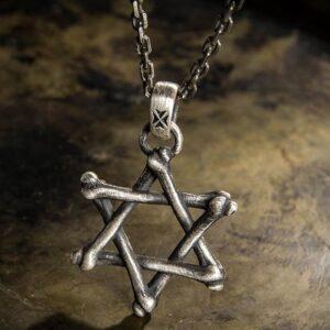 Bones Star Of David Pendant Necklace