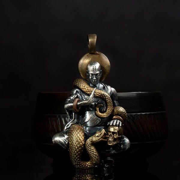 Buddha Snake Skull Pendant