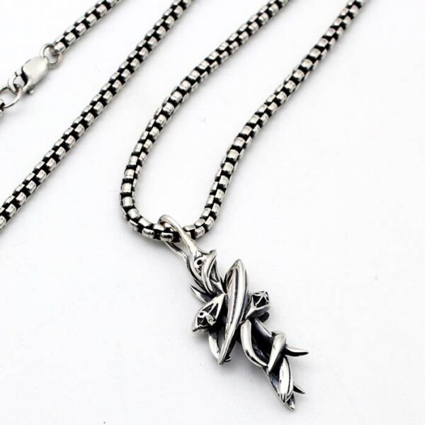 Cross Dolphins Pendant Necklace