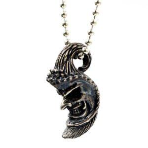 Moon Skull Pendant Necklace