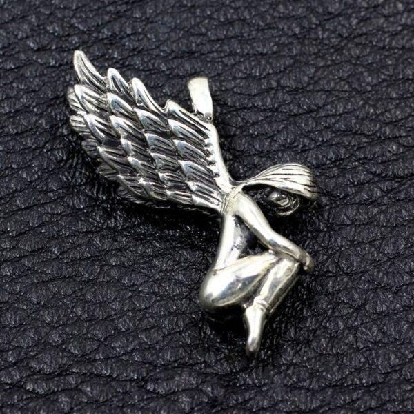 Nude Girl Wing Pendant