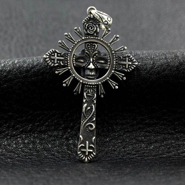 Sun Cross Skull Pendant