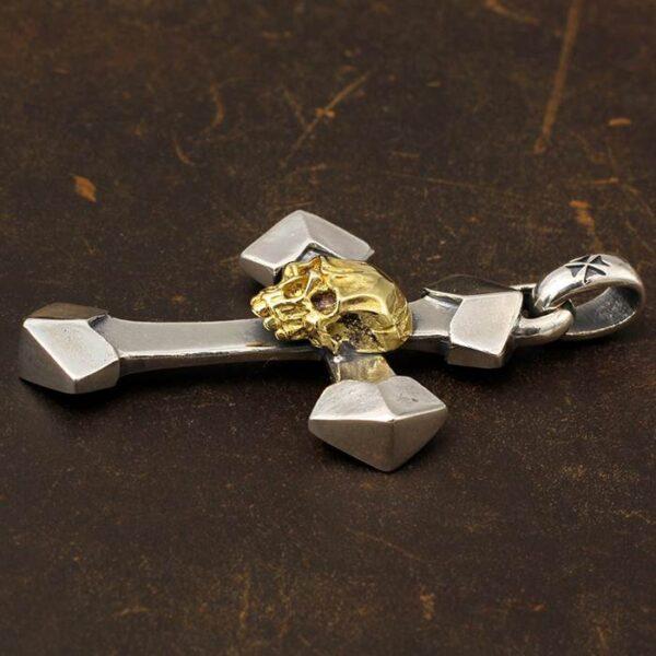 Cross Skull Pendant