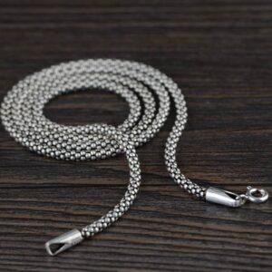 Silver Popcorn Chain Necklace