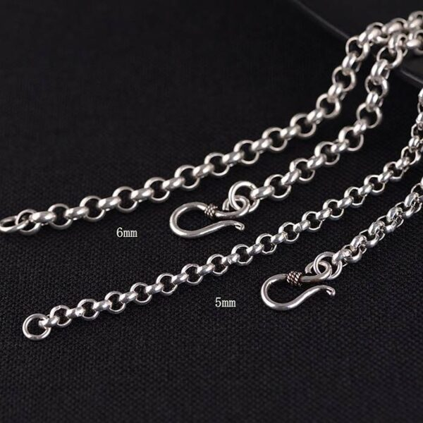 Silver Rolo Chain Necklace