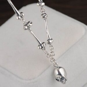 Skull Charm Bones Necklace