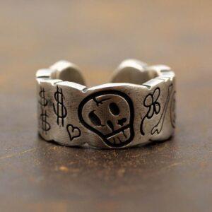 Skull Cuff Ring