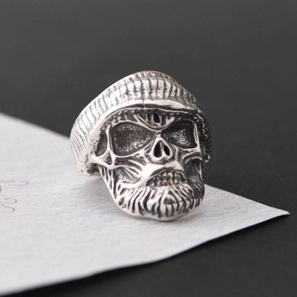 Beard Skull Ring
