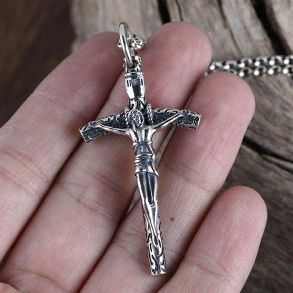Catholic Cross Jesus Pendant Necklace