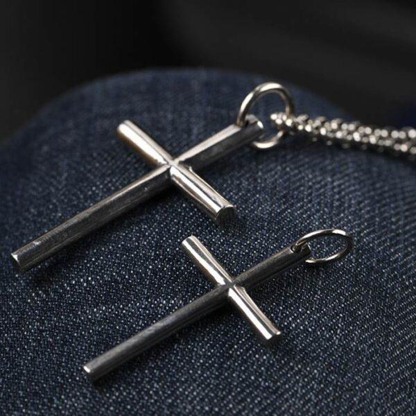 Silver Cross Pendant Necklace