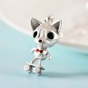 Silver Cute Dog Pendant