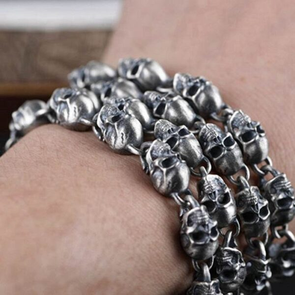 Long Skull Chain Necklace