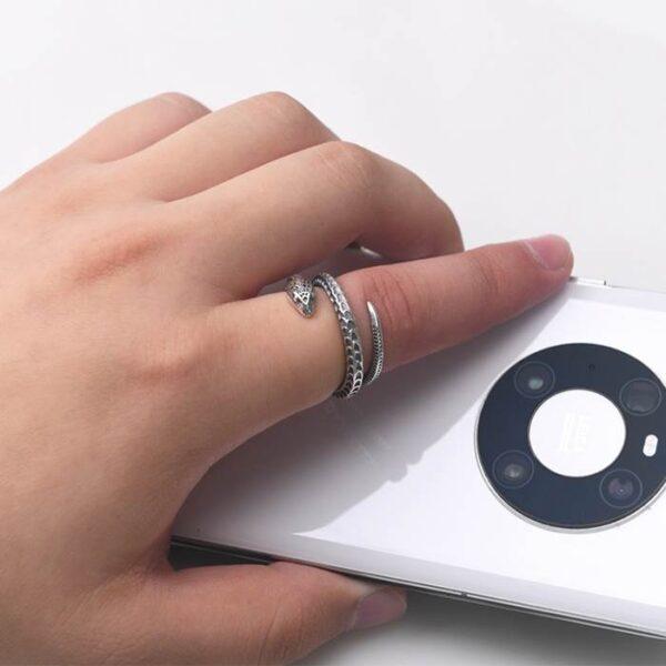 Silver Snake Wrap Ring