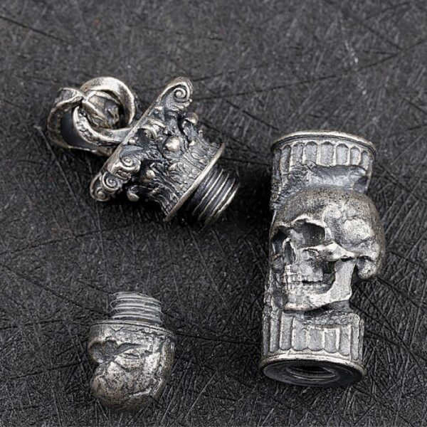 Skull Bullet Pendant Necklace